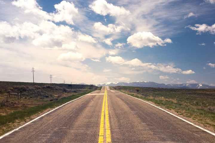 road sky clouds cloudy